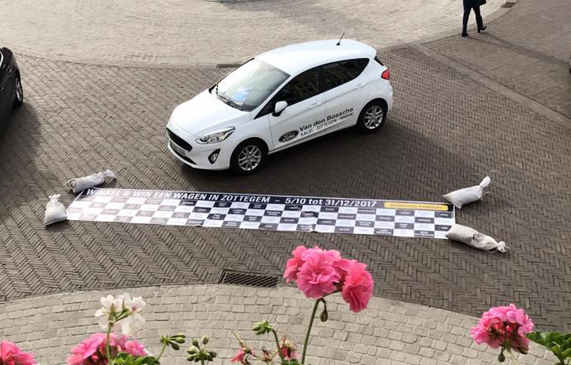 Ford Fiesta op markt in Zottegem
