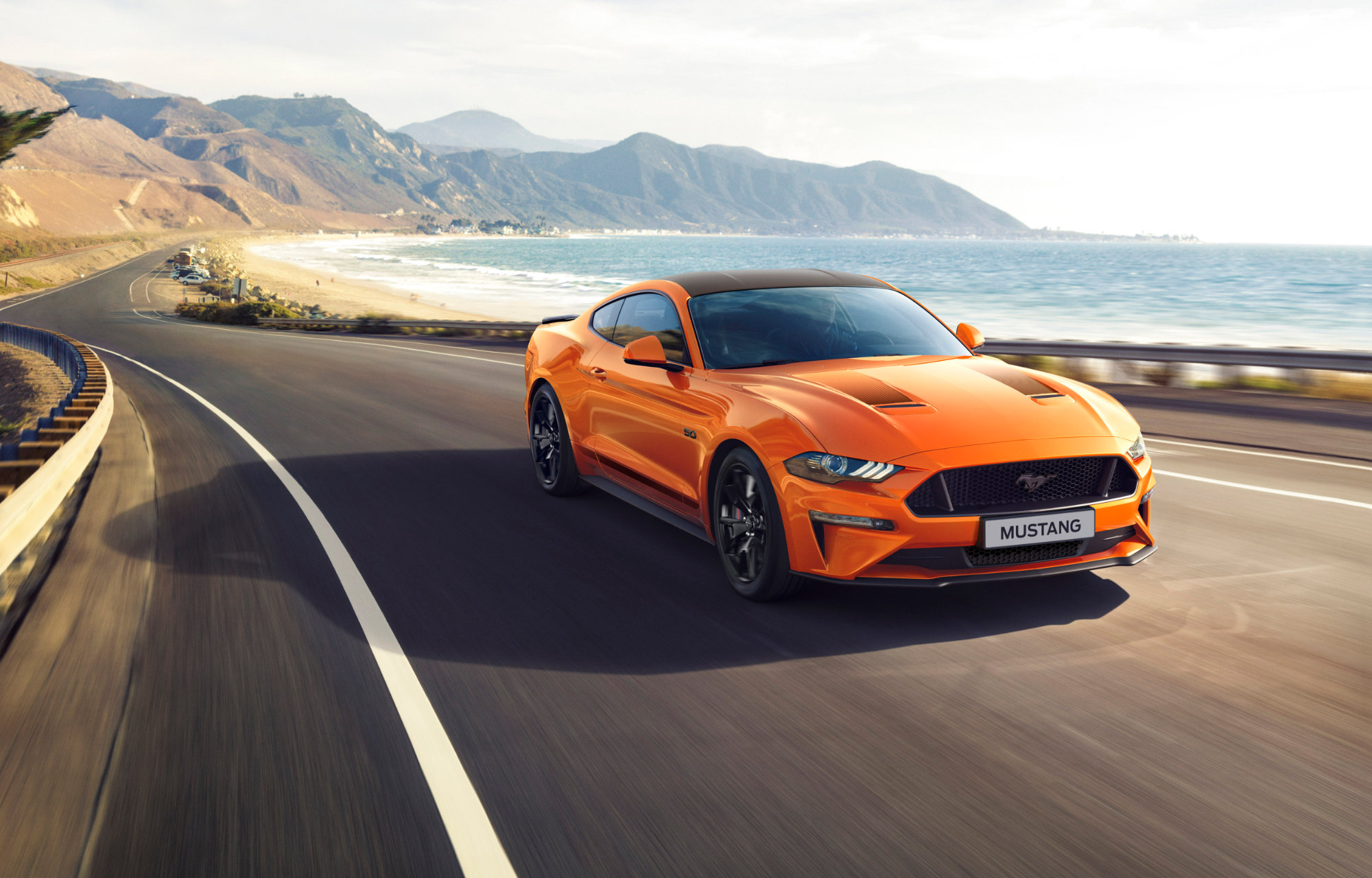 Ford Mustang Orange voorkant