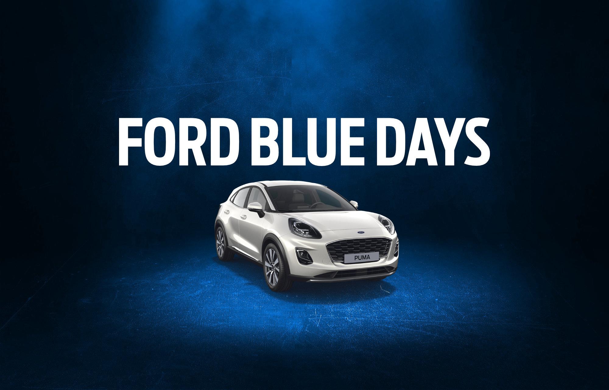 Promotie Ford Blue Days Garage Geudens