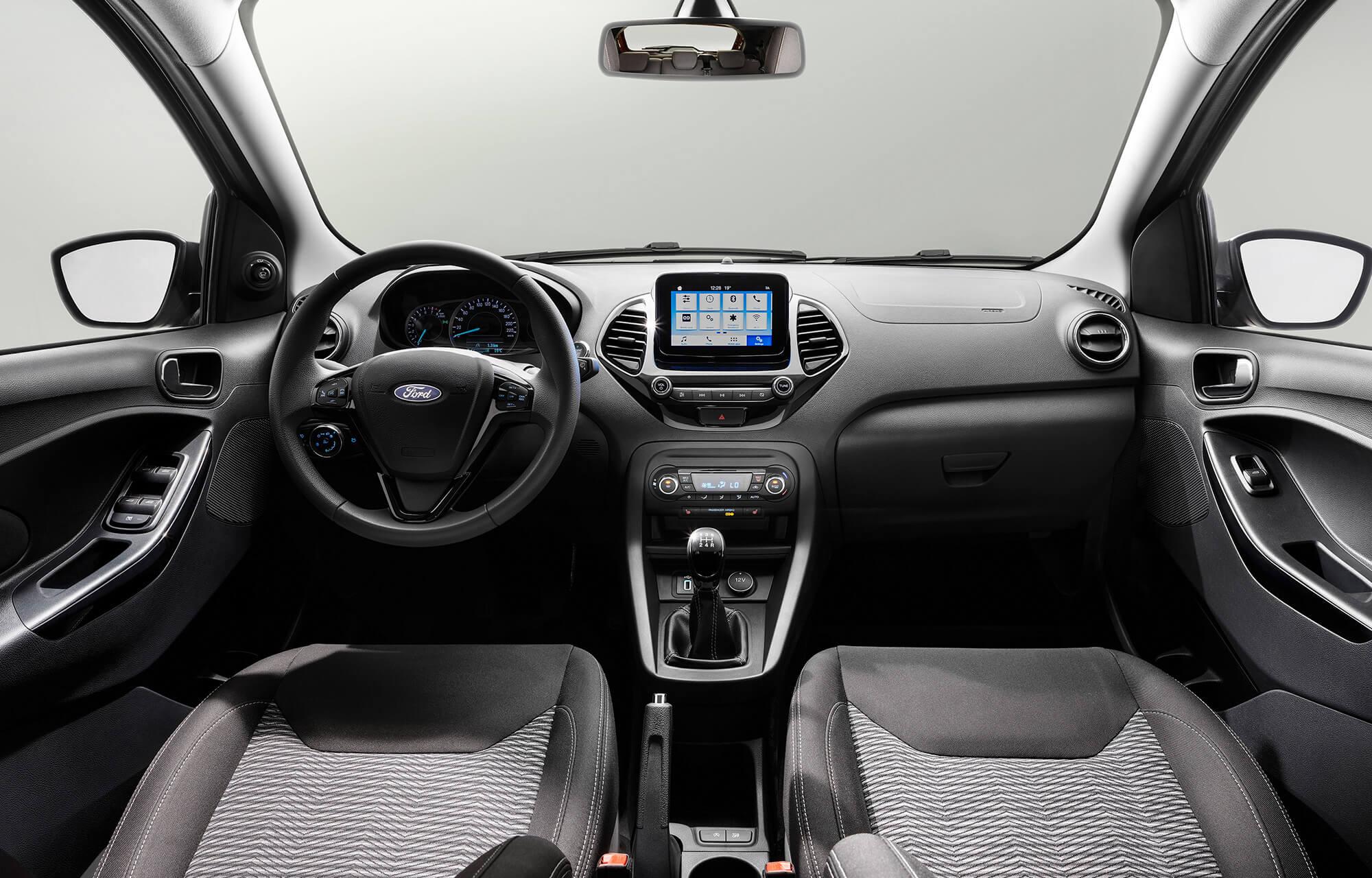 Interieur van de nieuwe Ford KA+