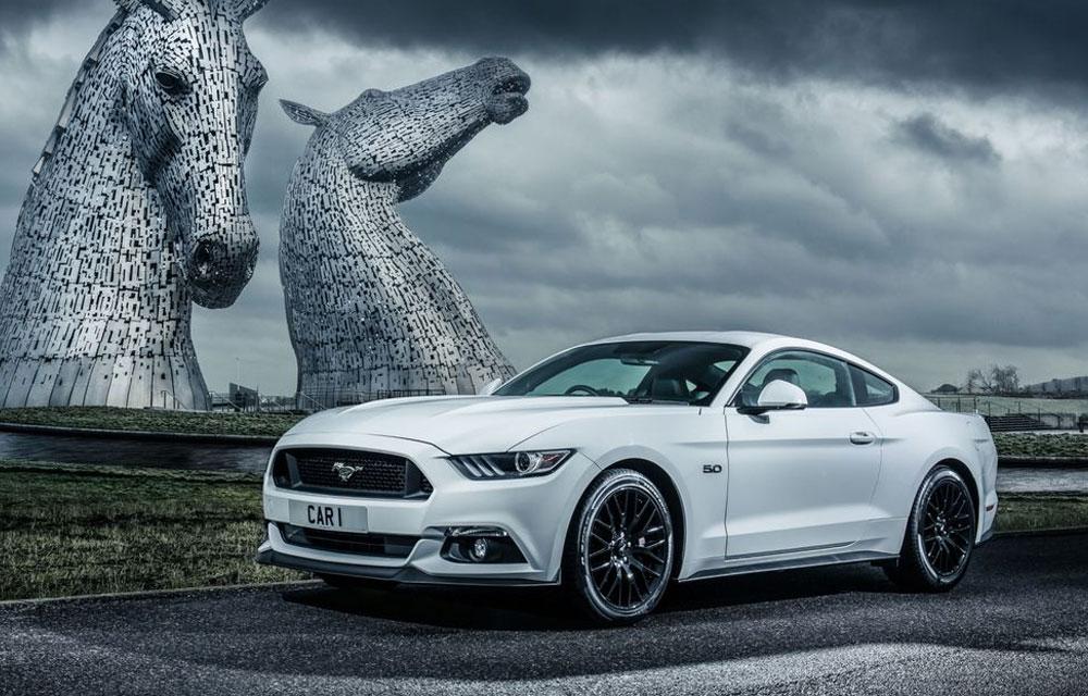 De Ford Mustang in Schotland