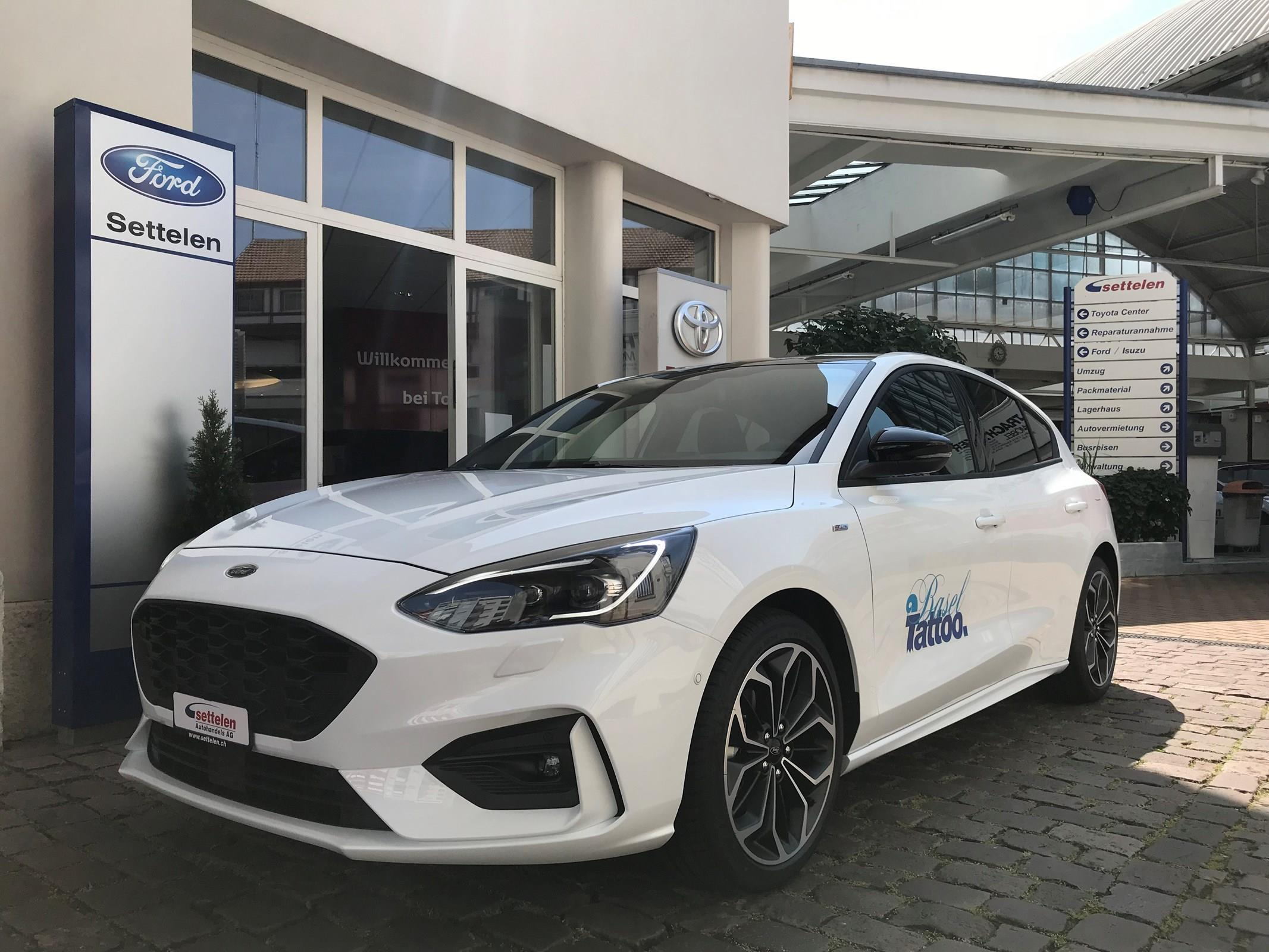 2018 FORD FOCUS 1.0i EcoB 125 ST-Line Chrom blue metallic Garage Beeler AG