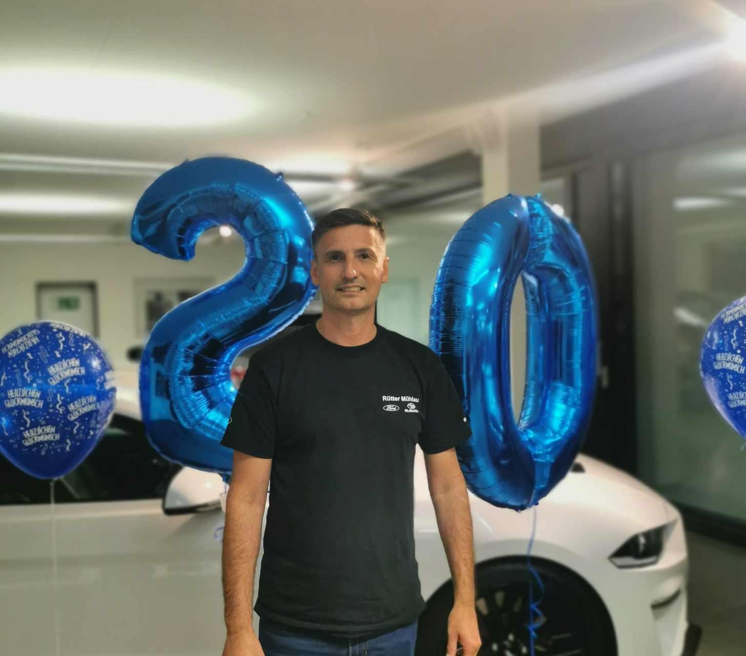 Arben Beqiraj 20 Jahre Garage Rütter