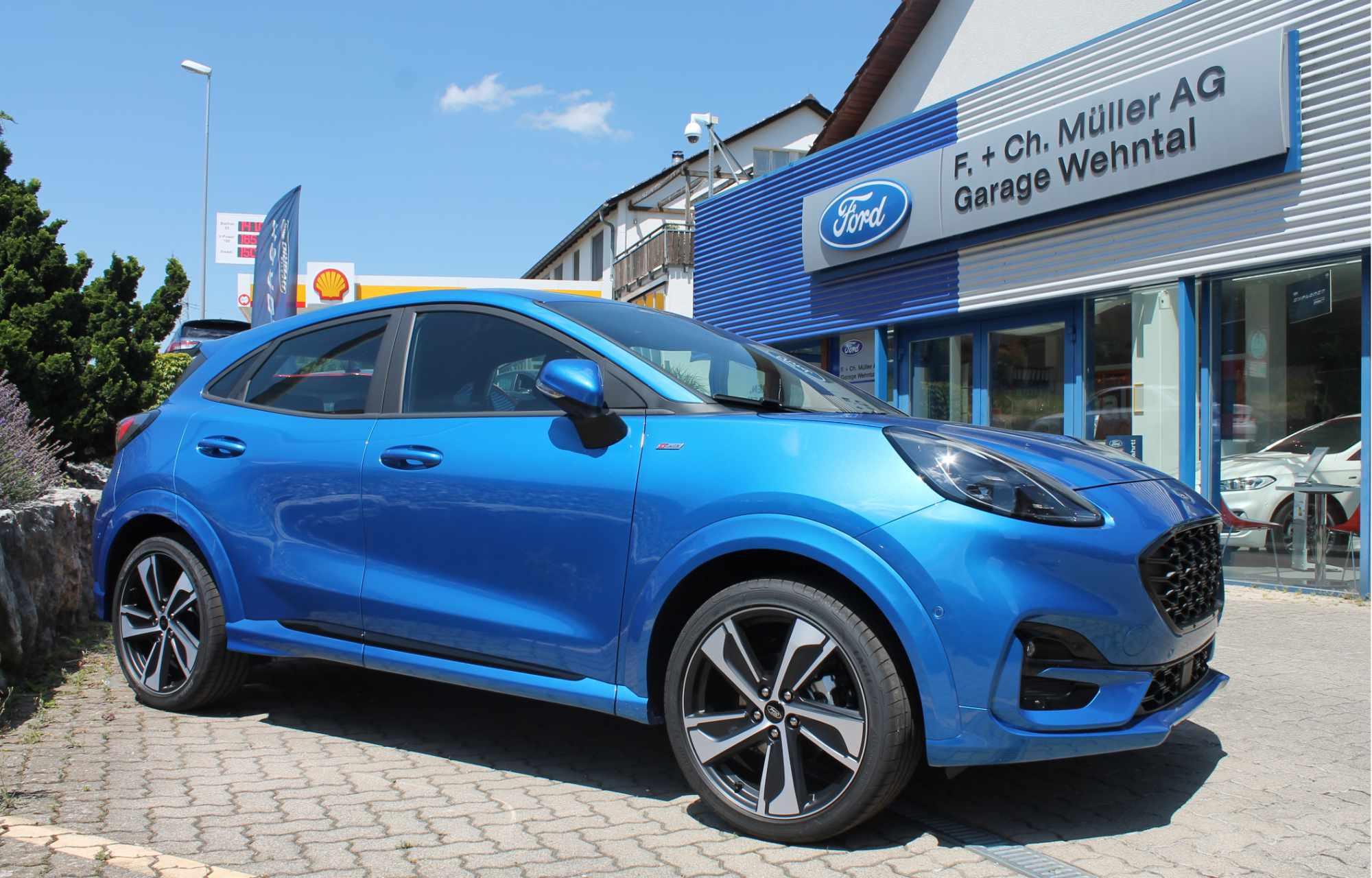 Ford Puma Dynamic Blau Metallic Garage Wehntal