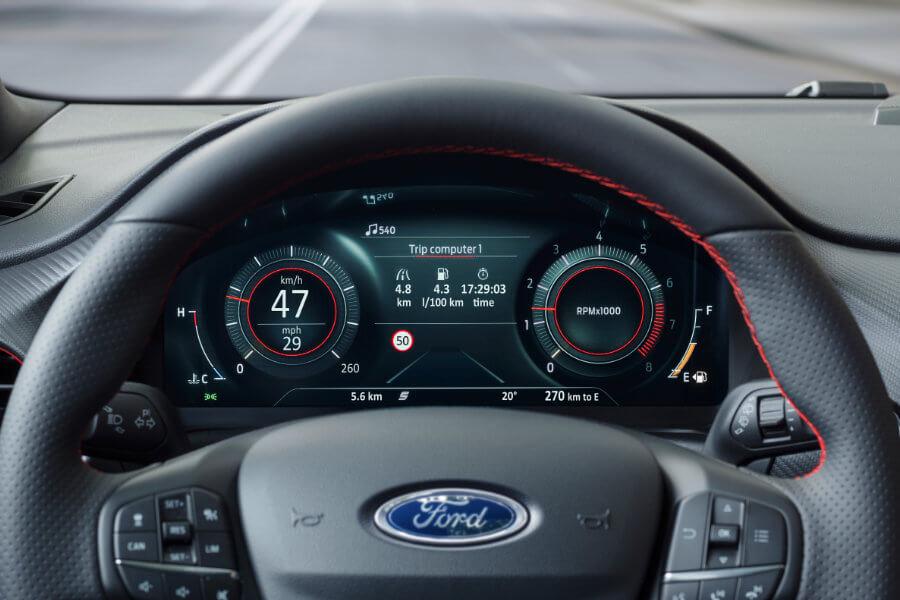 Interiér vozu Ford Puma