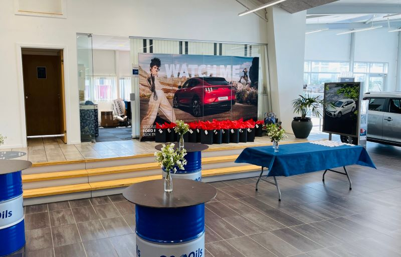 Showroom klar til Mach-E VIP event
