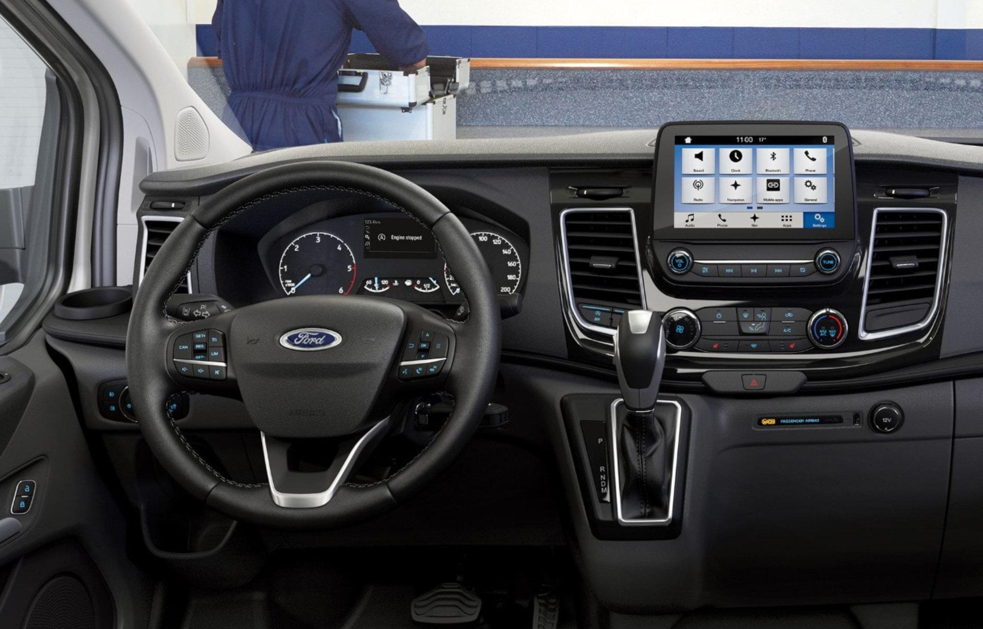 Le Ford Transit Custom équipé du systeme SYNC 3