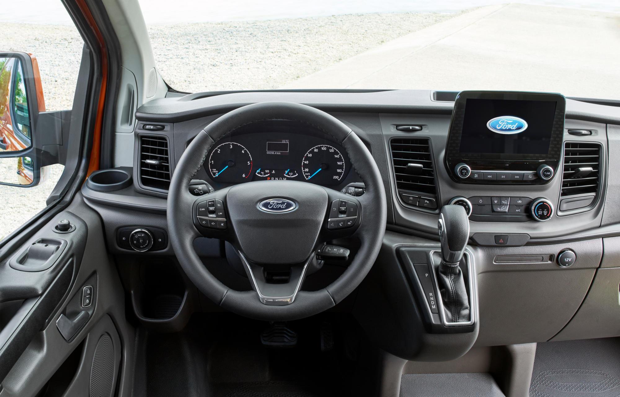 L'habitacle du Nouveau Ford Transit Custom