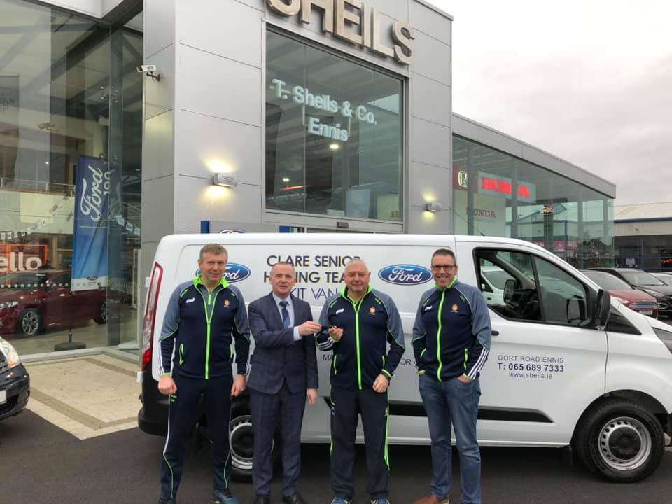 Sheils Ennis is proudly sponsoring a kit van to the Clare Senior Hurling Team