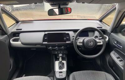 Interior Front panel view - red 2021 (212) Honda Jazz 1.5 i-MMD Elegance - Save €1,995 only at Slaney View Motors