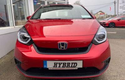 Front view - red 2021 (212) Honda Jazz 1.5 i-MMD Elegance - Save €1,995 only at Slaney View Motors