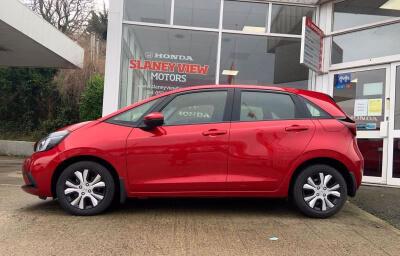 Side view - red 2021 (212) Honda Jazz 1.5 i-MMD Elegance - Save €1,995 only at Slaney View Motors