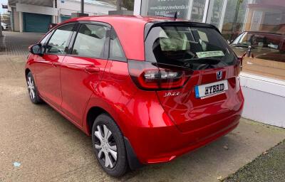 Rear-left view - red 2021 (212) Honda Jazz 1.5 i-MMD Elegance - Save €1,995 only at Slaney View Motors