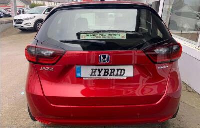 Rear view - red 2021 (212) Honda Jazz 1.5 i-MMD Elegance - Save €1,995 only at Slaney View Motors