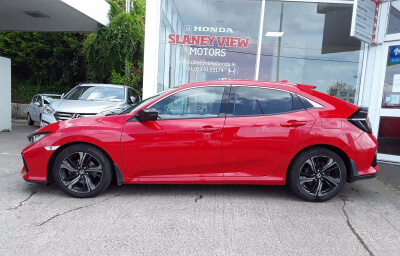 Front-left view - red 2018 (182) Honda Civic 1.6 I-DTEC Smart Plus - Save €1000 only at Slaney View Motors