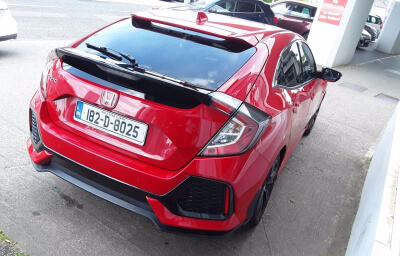 Rear-right view - red 2018 (182) Honda Civic 1.6 I-DTEC Smart Plus - Save €1000 only at Slaney View Motors