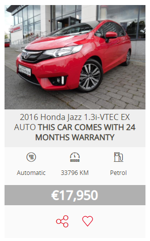 Receive 24 months warranty on a selection of used Honda models