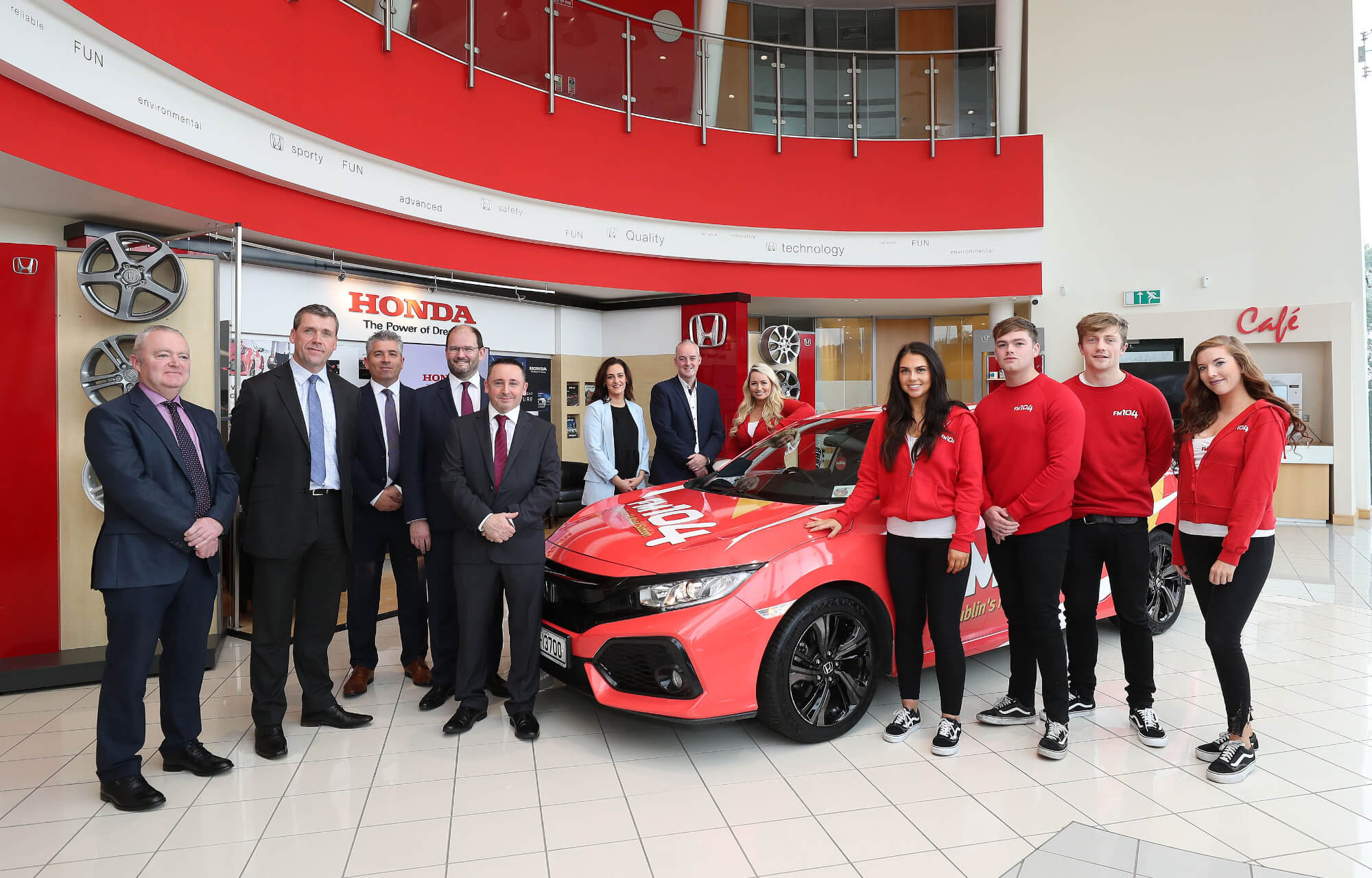 FM104 unveils new promotional team with Honda Civic