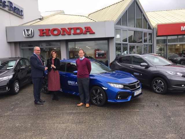 Sibohan Coakley picks up her 191 Honda Civic