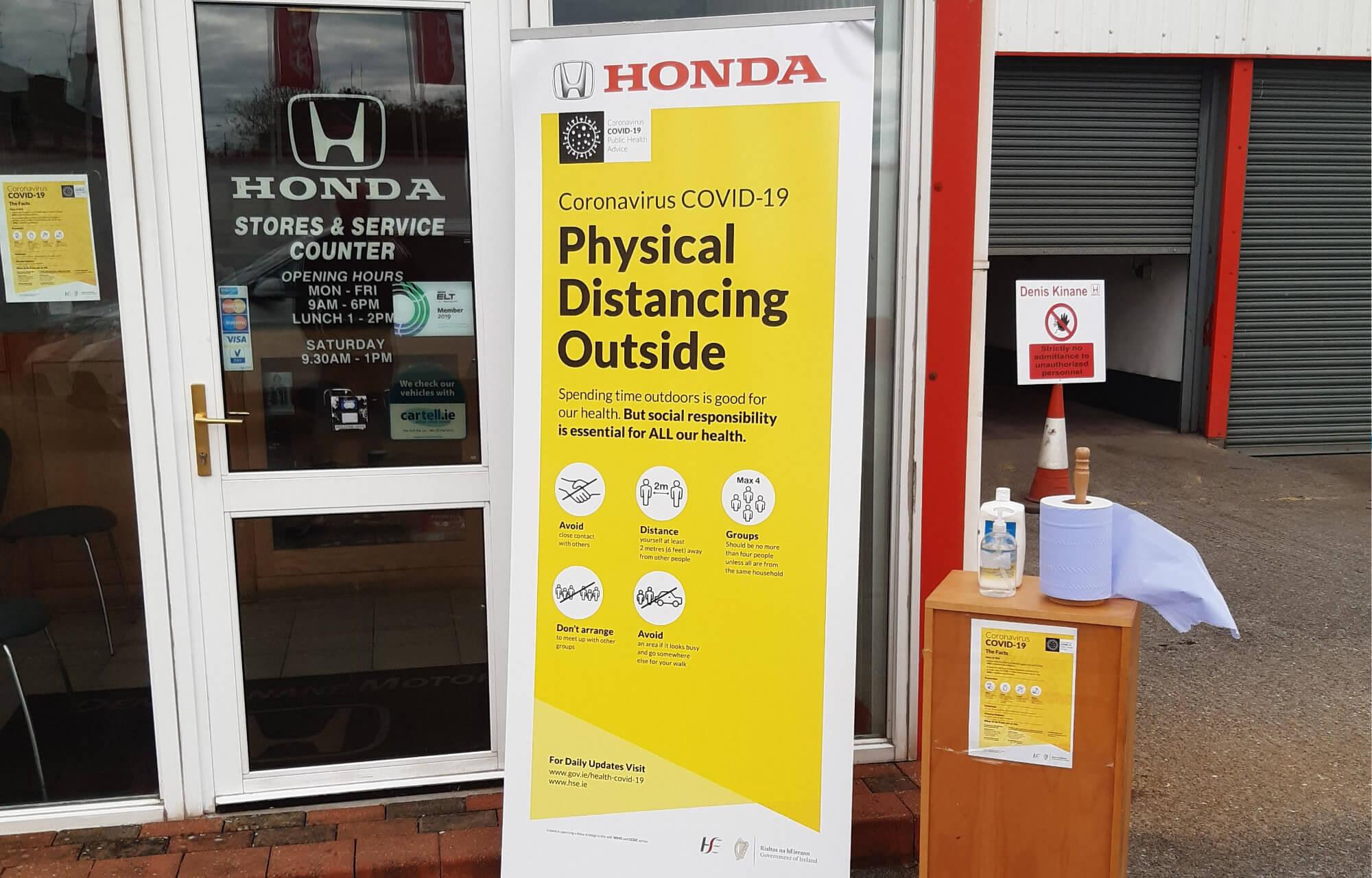 Denis Kinane Motors Safety Measures