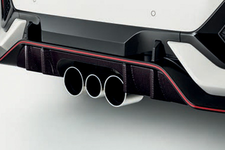Honda Civic Type R Carbon Rear Diffuser Decoration
