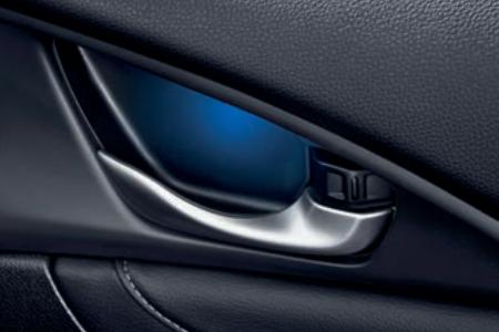 Honda Civic 4 Door Sedan - Blue Door Lining Illumination