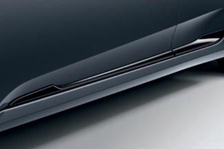 Honda Civic 4 Door Sedan Lower Door Decoration - Black