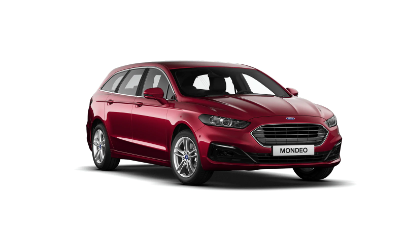 Ruby Red Ford Mondeo Titanium Hybride