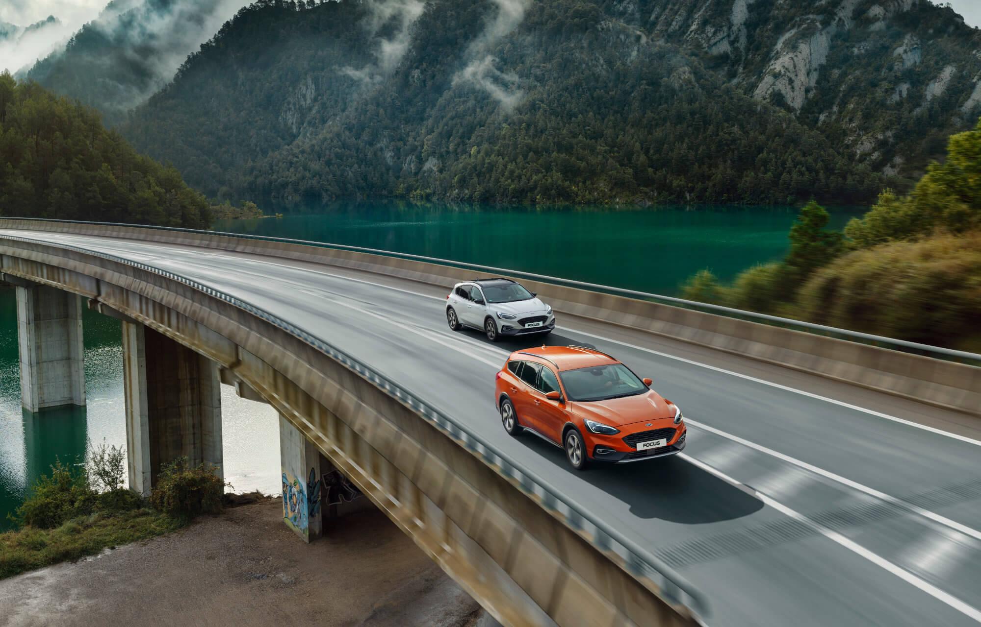 Nieuwe Focus Wagon en Focus Active - op brug