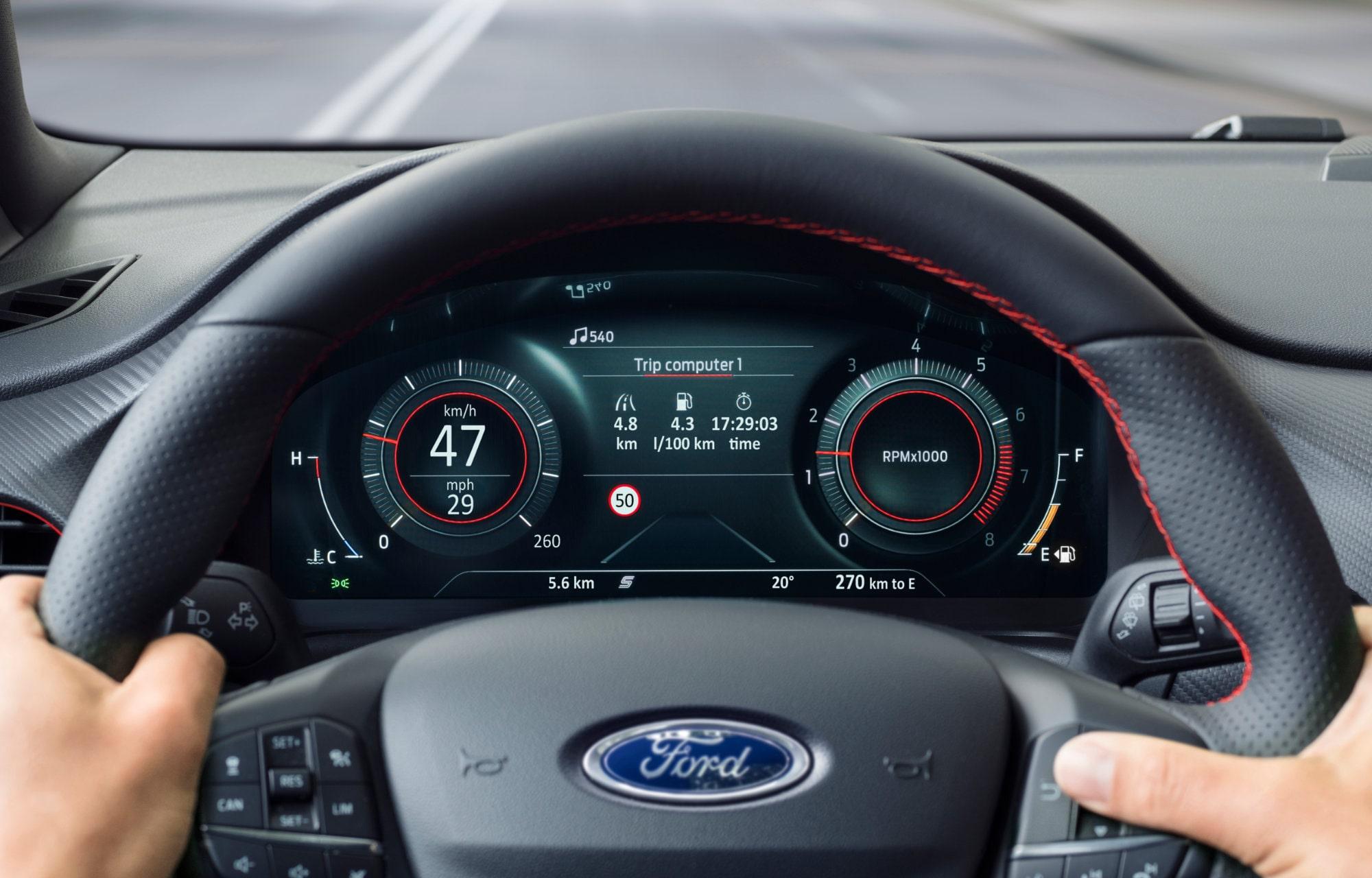 Ford Puma cockpit