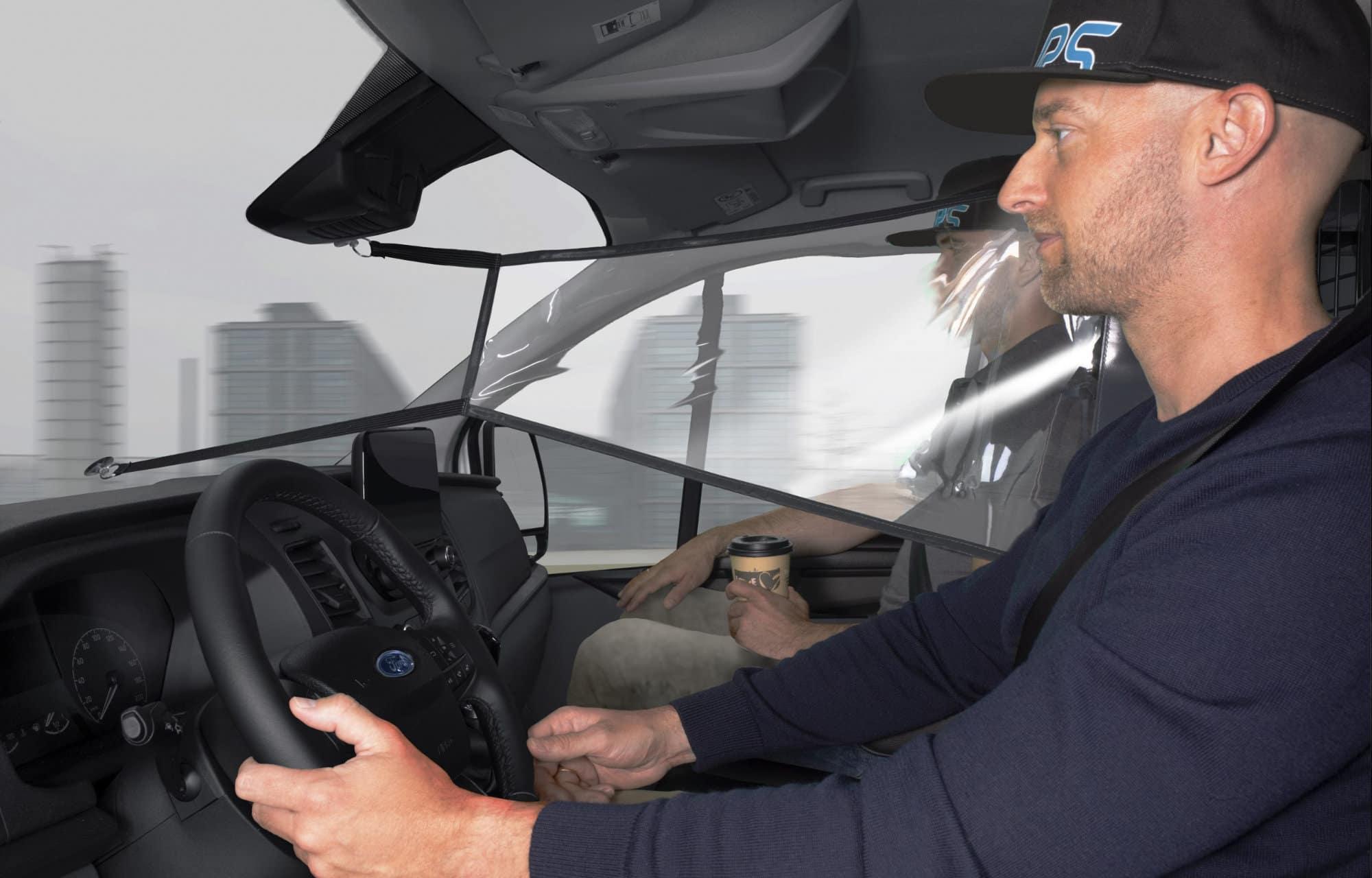 Veiligheidsschermen bedrijfswagens
