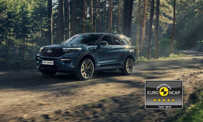 Ford explorer plug in hybrid beoordeeld met 5 sterren door EURO NCAP