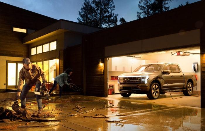 Ford F-150 Lightning stroom voorziening voor huis