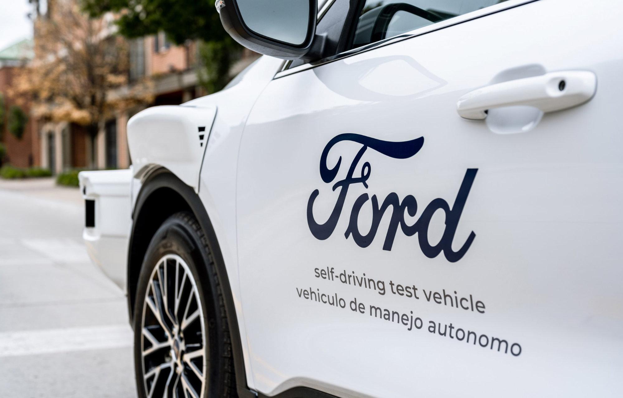 Ford zelfrijdende auto in samenwerking met ARGO AI