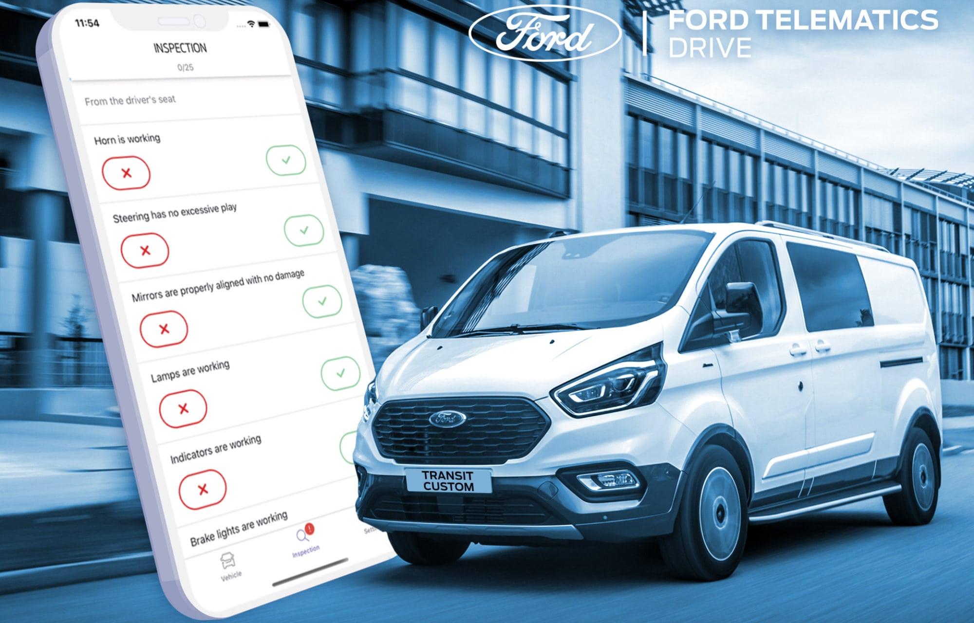 ford transit custom zakelijke smartphone app