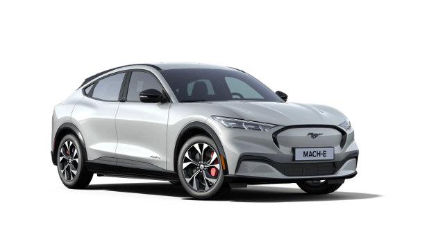 Mustang Mach-E Space White Metallic