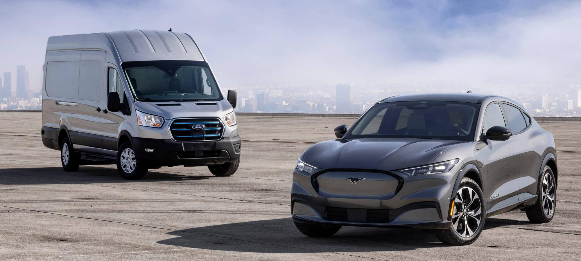 E-Transit & Mustang Mach-
