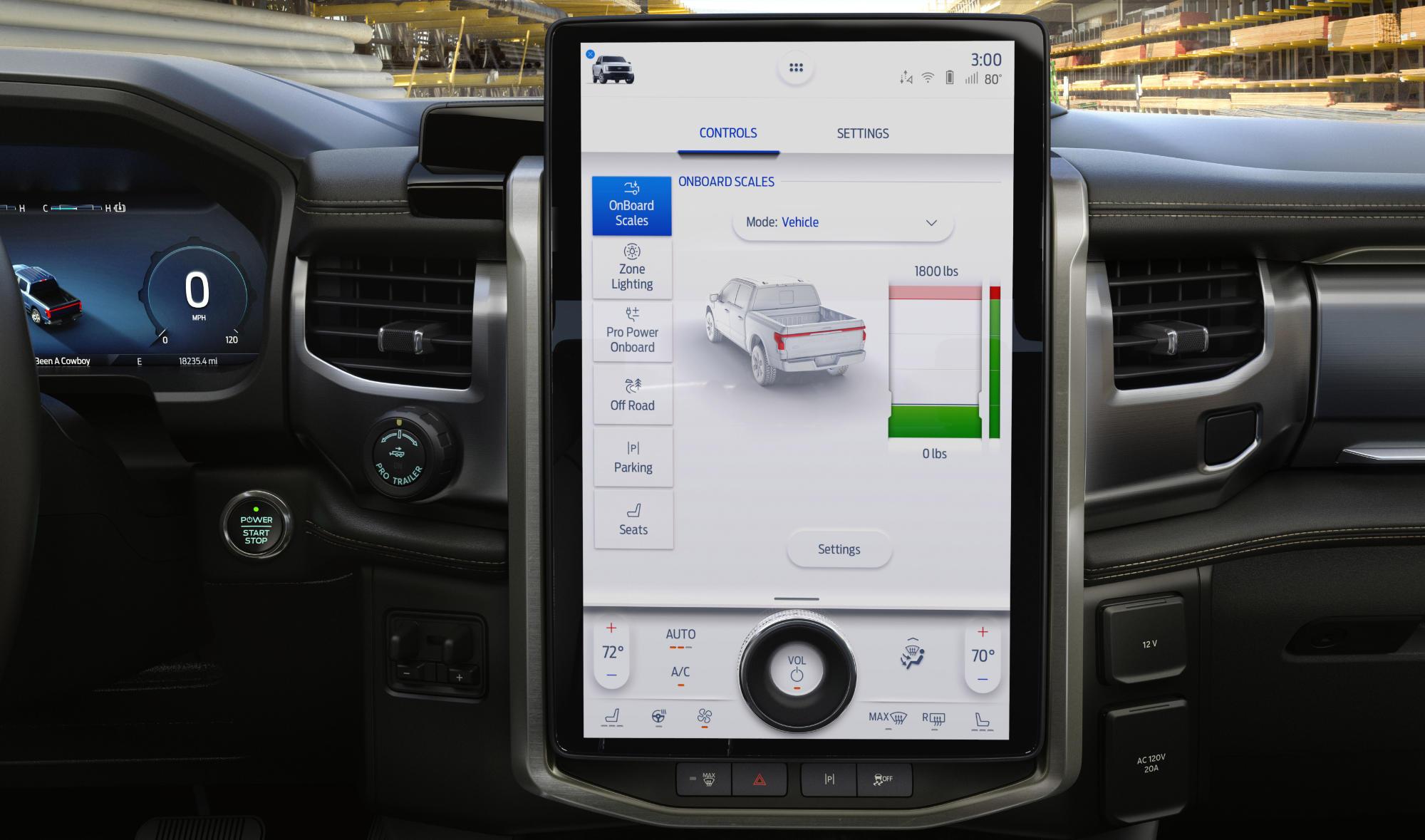 Ford F-150 berøringsskjerm