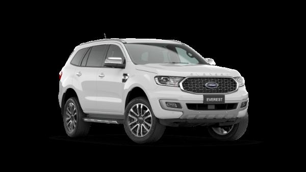 White Ford Everest