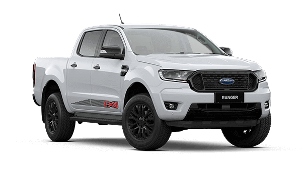 White Ford Ranger FX4