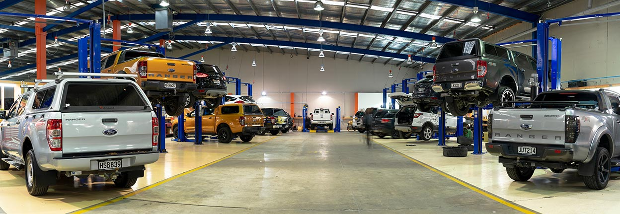 Team Hutchinson Ford in Christchurch for a vehicle service