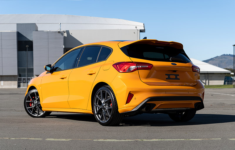 The Ford Focus ST. Available at Team Hutchinson Ford in Christchurch