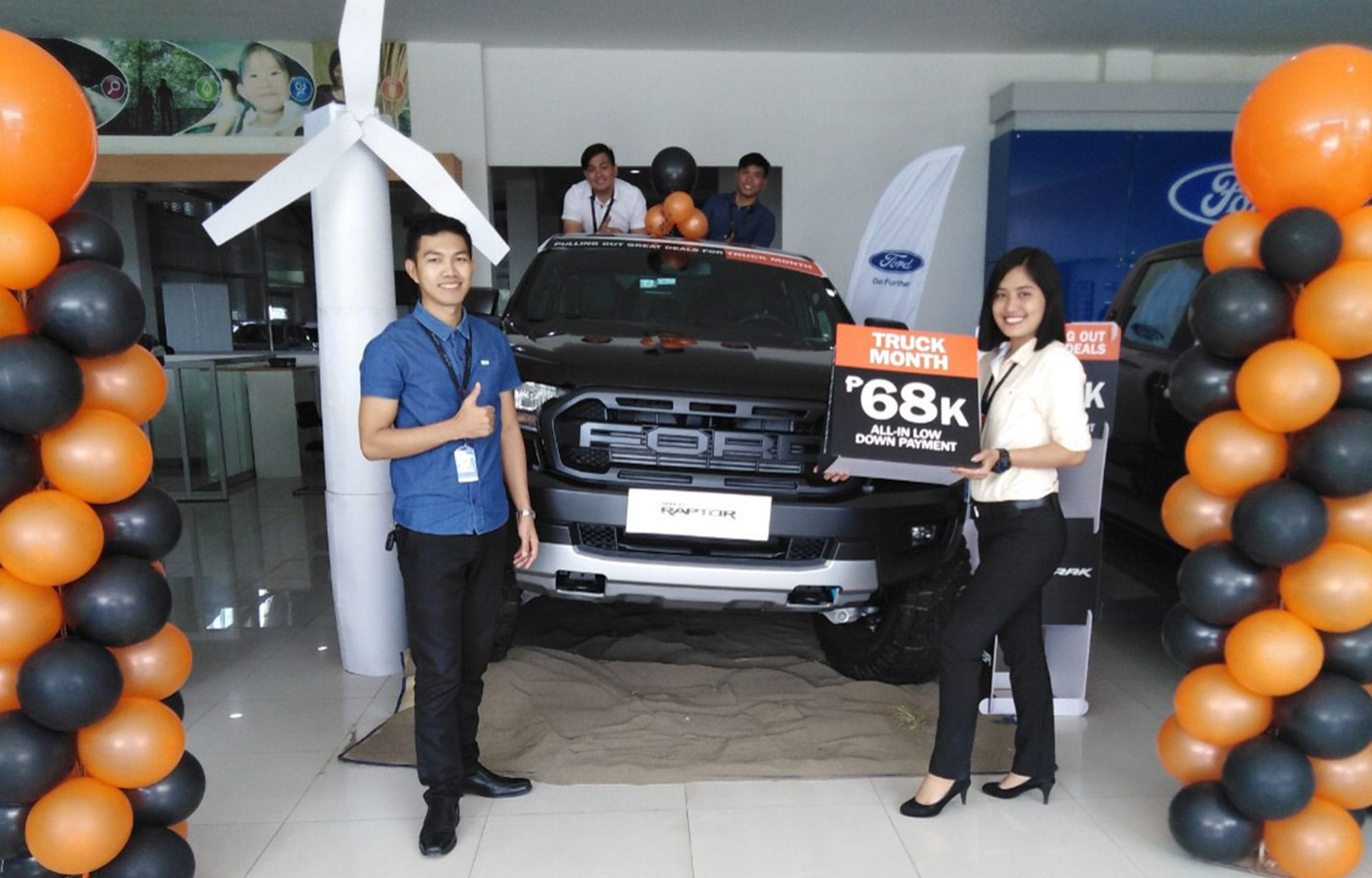ford ilocos norte windmills theme for the ford truck month event
