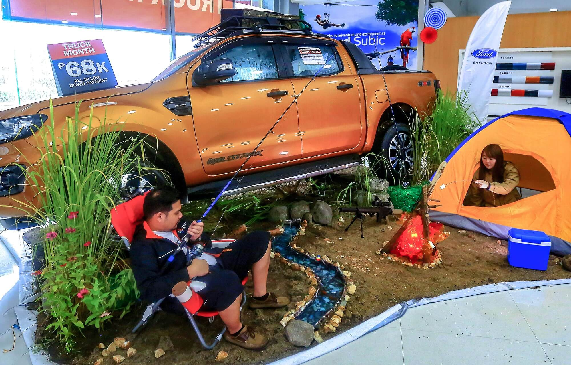 ford subic outdoor activities theme for the ford truck month event