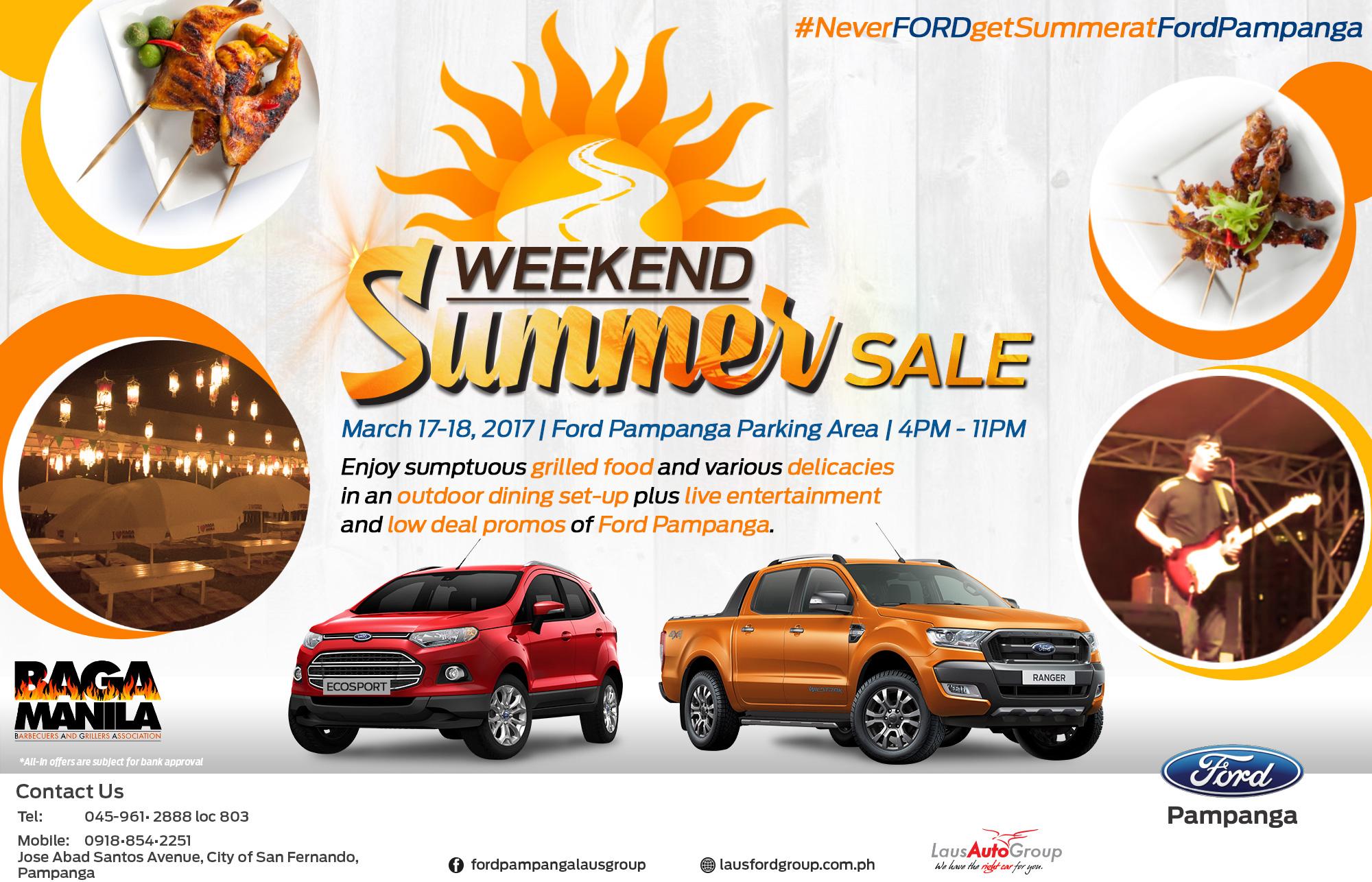 Ford Pampanga Weekend Summer Sale