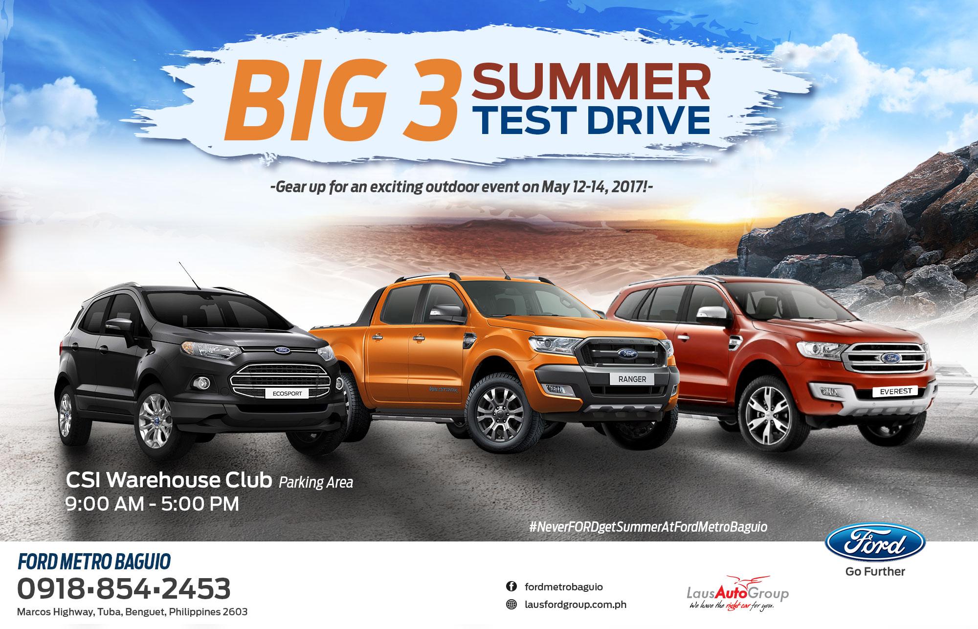 Big 3 Summer Test Drive