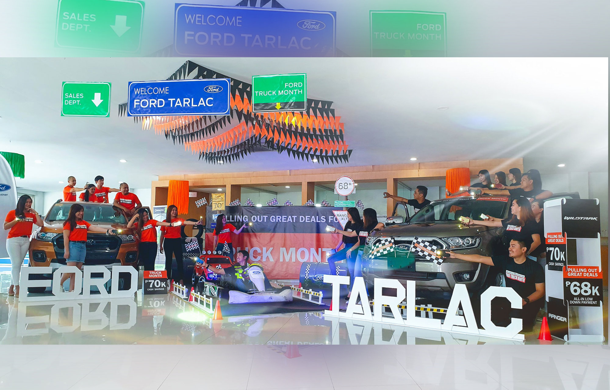 ford tarlac kart racer theme for the  ford truck month event