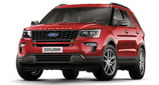 Ford Explorer - ruby red