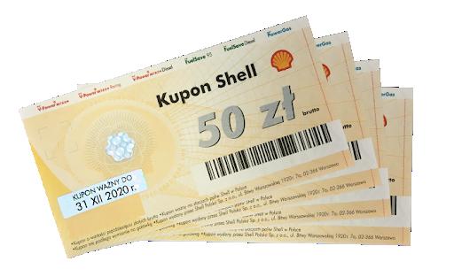 5 x Kupony paliwowe o wartości 100 zł