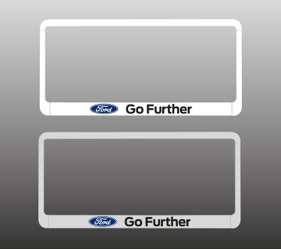 ชุดกรอบป้ายทะเบียน Ford (สีขาว, สีซิลเวอร์)